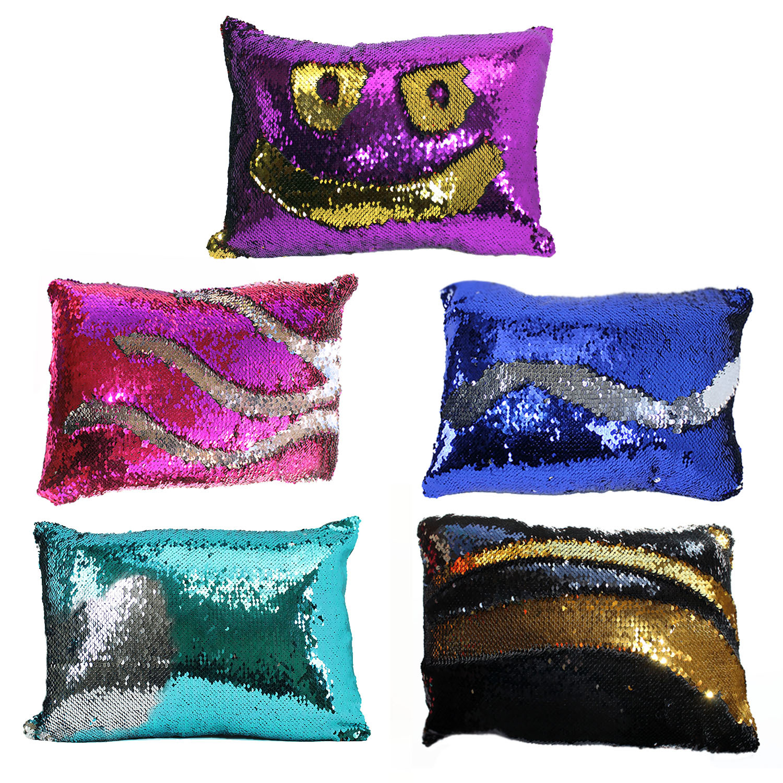 wholesale mermaid sequin throw pillow assorted colors sku 2288409 dollardays. Black Bedroom Furniture Sets. Home Design Ideas