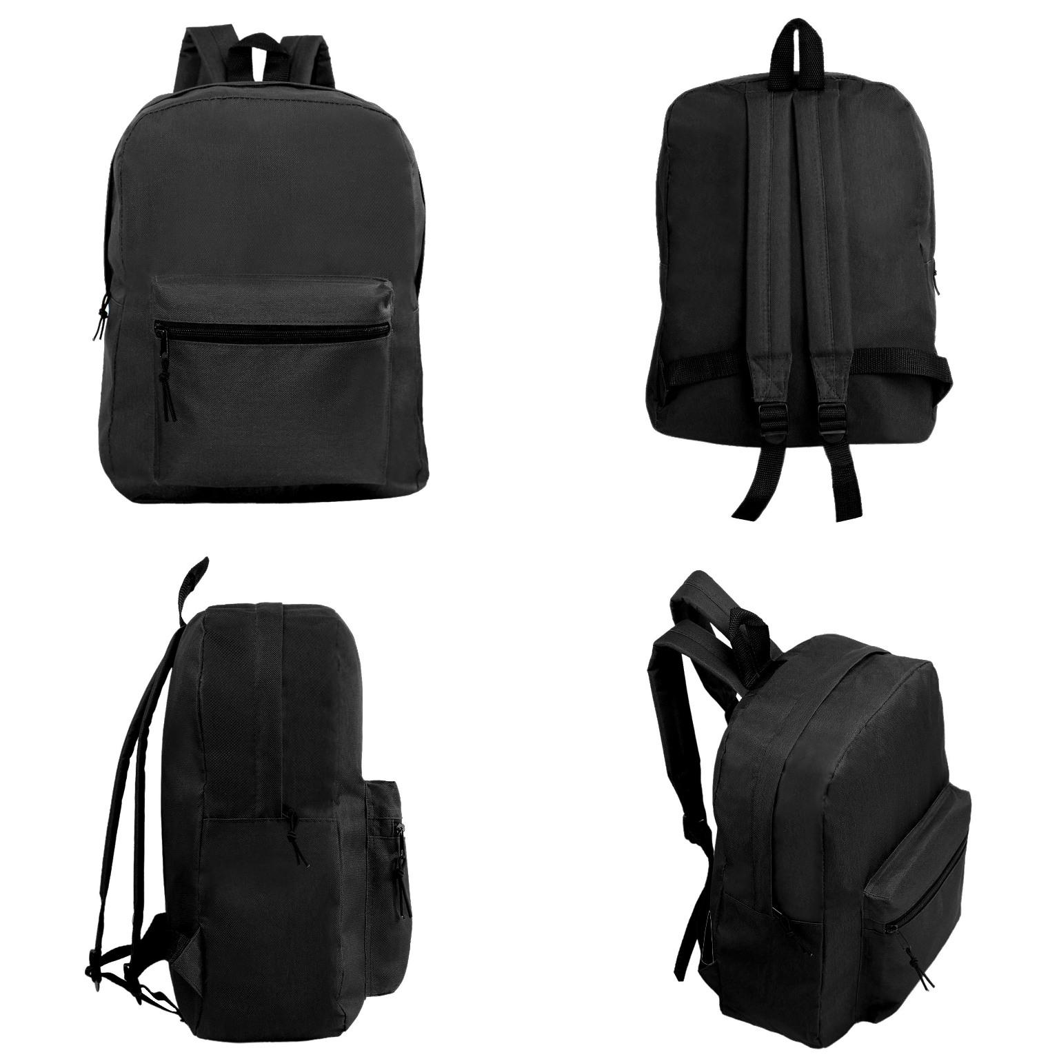 Wholesale 15 Quot Basic Kids Black Backpack Sku 2290802