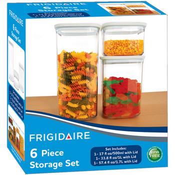 Wholesale Frigidaire Plastic Food Storage Container 6 Piece Set SKU