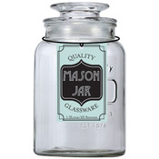 Glass Mason Jar Containers  1.3L/43.9oz