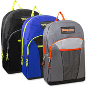 17 inch Triple Pocket Backpack