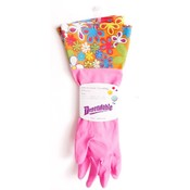 Decorative Latex Cleaning Gloves With Fancy Cuff