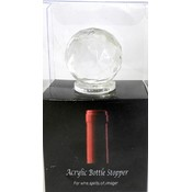 Crystal Clear Acrylic Wine Bottle Stopper
