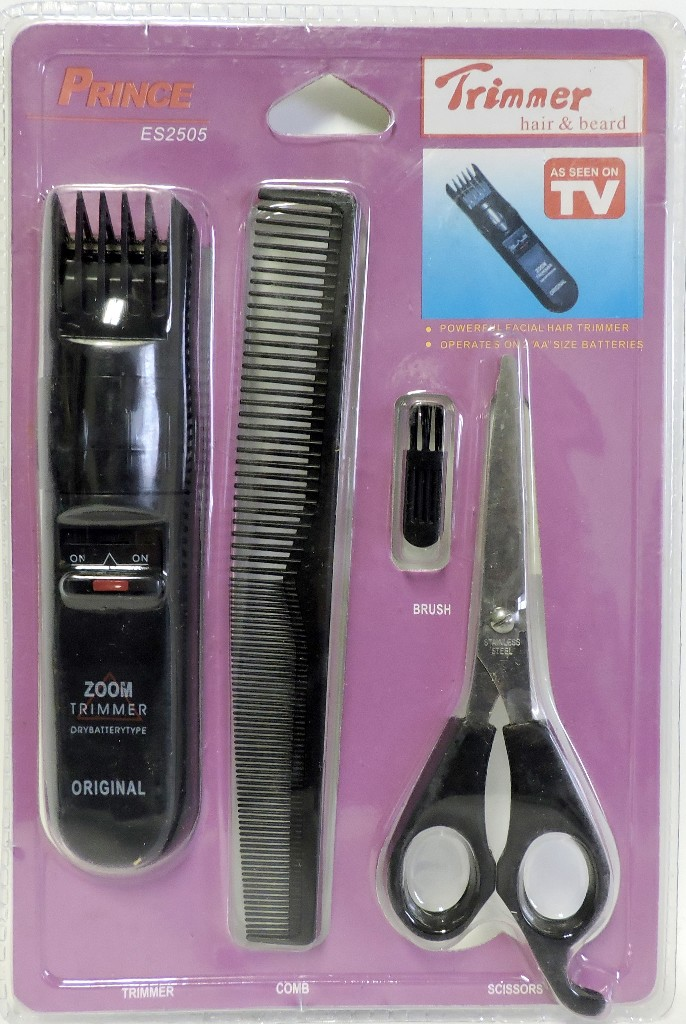 beard trimmer as seen on tv as seen on tv 4pc hair beard trimmer kit tv item 60 units prince. Black Bedroom Furniture Sets. Home Design Ideas