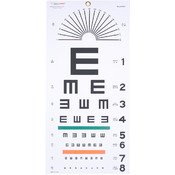 Plastic Eye Test Chart, Tumbling E