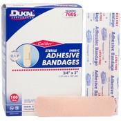 "Dukal Caliber™ Fabric Adhesive Sterile Bandage 3/4"" x 3"" 100 Count"