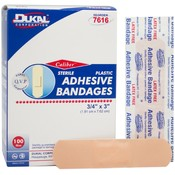 "Dukal Caliber™ Plastic Adhesive Sterile Bandage 3/4"" x 3"" 100 Count"