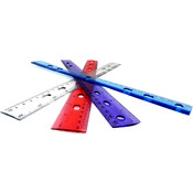 "Ruler Plastic 12"" - Assorted Colors- Bulk Boxed"