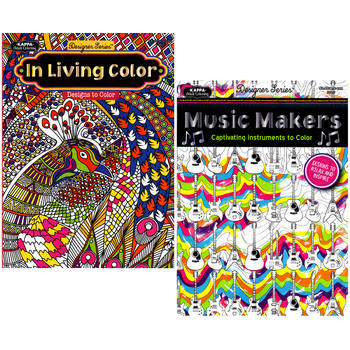 Kappa Adult Coloring Book Assorted