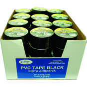 "Electrical Tape - Black - 2 pack - .71""(3/4"") x 50 ft each roll"
