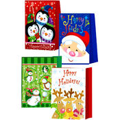 "Christmas Gift Bags - Medium size - 9"" x 7"" x 4"" - Asst"