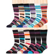 Men's Thick Stripe Dress Socks Size 10-13