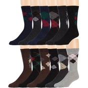 Men's Argyle Dress Socks Size 10-13