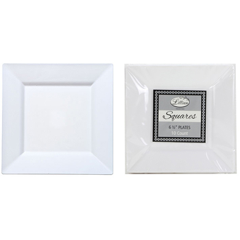White 6.5  Square Plastic Dinner Plates  sc 1 st  DollarDays & Wholesale Party Plates - Wholesale Color Party Plates - DollarDays