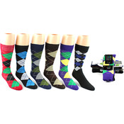 Mens Argyle Pattern Socks - Size 10-13