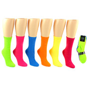 Solid Colored Socks - Neon Size 9-11