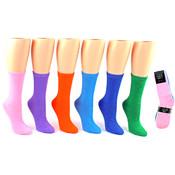 Women's Crew Socks - Bright Colors Size 9-11