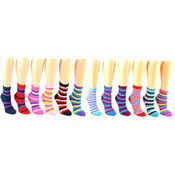 Women's Fuzzy Socks with Stripes