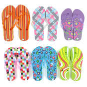 Women's Patterned Flip Flops