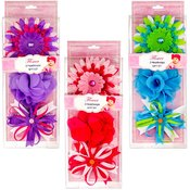 Baby Colorful Flower Headwraps 3-Pack