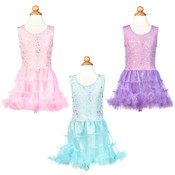 Girl's Glitter Top with Tiered Tutu Dress