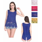 Women's Crochet Sleeveless Tops - Circular Patterns