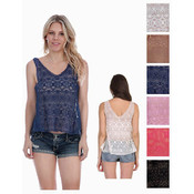 Women's Crochet Tank Tops - Fractal Patterns