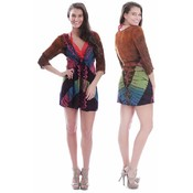 Women's Rayon Cover-Up Tops with Vine Accent Stitching