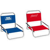 Budweiser/Bud Light Folding Beach Chairs - Assorted Brand Styles