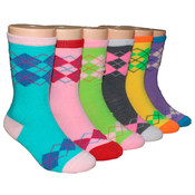 Children's Crew Socks - Argyle Print - 3-Pack Pack - Size 6-8