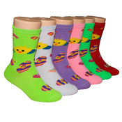 Children's Crew Socks - Duckling Print - 3-Pack - Size 6-8