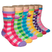 Children's Crew Socks - Checkered Cupcake - 3-Pack - Size 6-8
