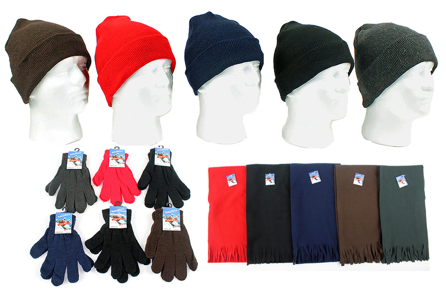 Wholesale Winter Hats, Gloves, and Scarves (SKU 357153