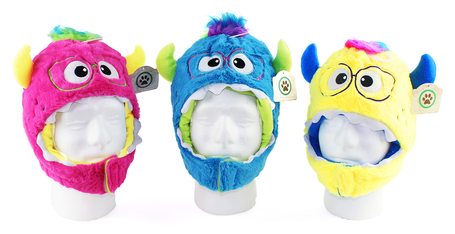 Wholesale Children S Plush Monster Hats With Chin Strap