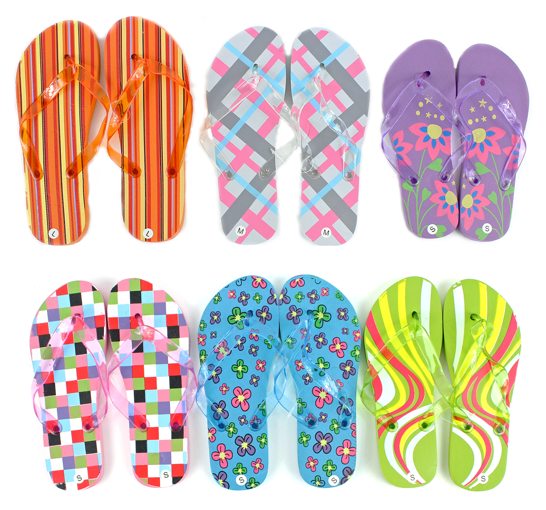 cad0e18eadf50 Wholesale Women s Patterned Flip Flops (SKU 690350) DollarDays