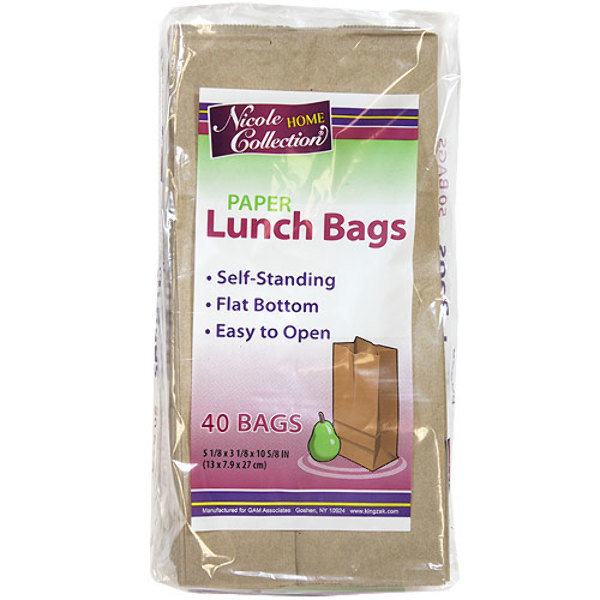 home collection wholesale paper lunch bags 40 packs home 10269