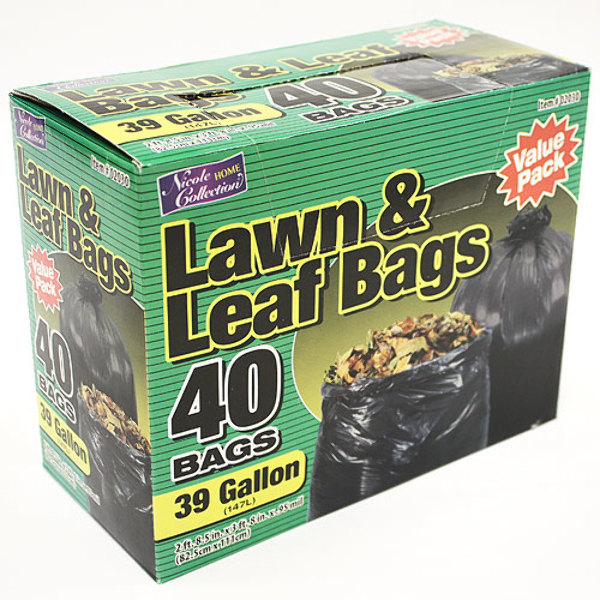 home collection wholesale 39 gallon lawn leaf bags 40 packs home 10269