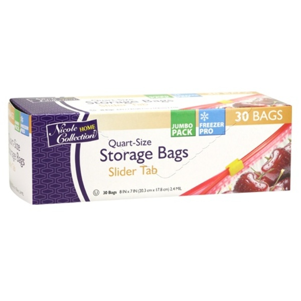 home collection wholesale quart slide tab freezer storage bags 30 10269