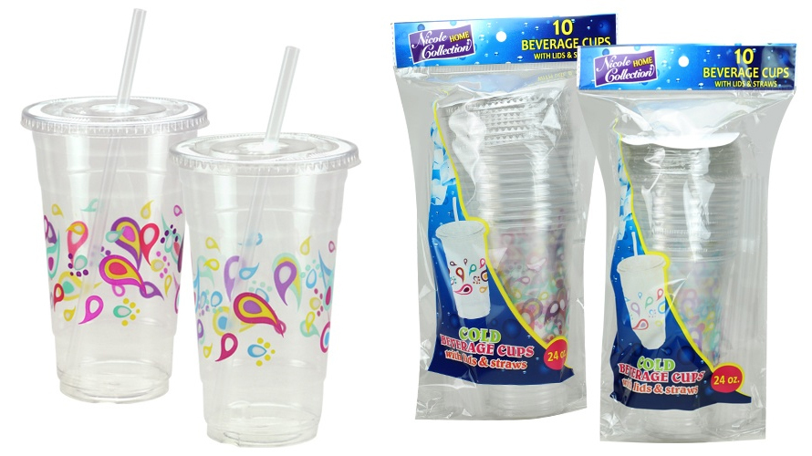 Wholesale 24 Oz Clear Plastic Cups With Lids Straws