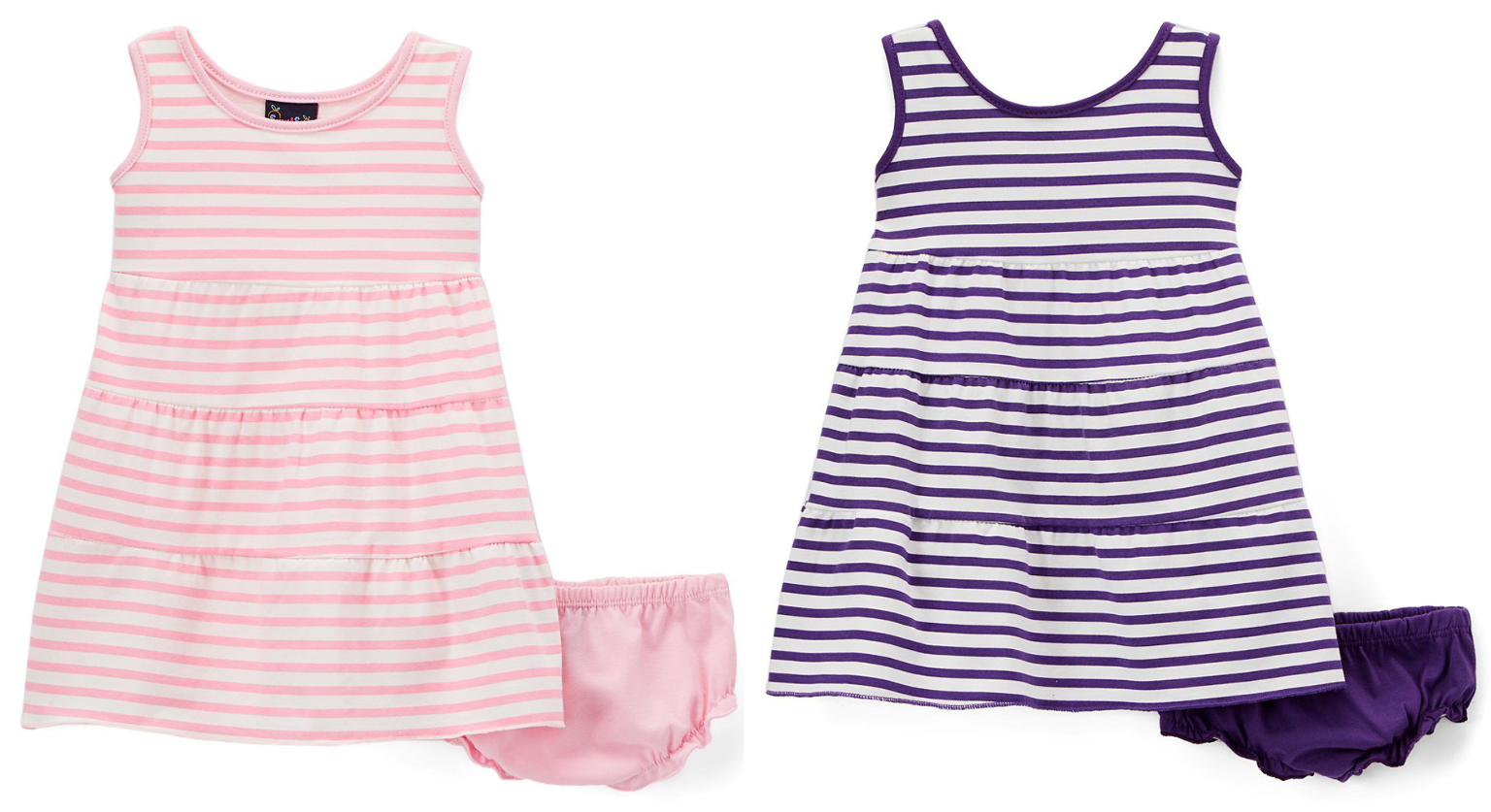 3740a92e2927 Wholesale Baby Girl s Thin Stripe Knit Dresses with Panty Set - Size ...