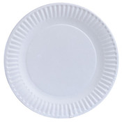 White Paper Plates- 6 Inch