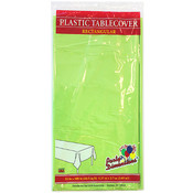 "54"" X 108"" Lime Green Rectangular Plastic Tablecloth- Lime Green"