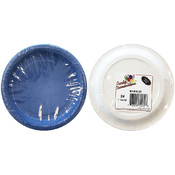 "9"" Blue Round Paper Plate 20-Packs"