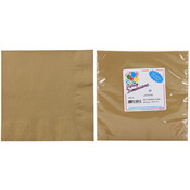 2 Ply Luncheon Napkin, Gold, 20-Packs