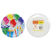 "7"" Paper Plates - Birthday Balloons Design - 36-Packs"