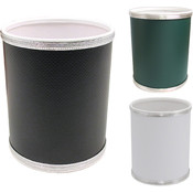Budget Series Vinyl Round Wastebaskets - Choose Your Color(s)