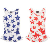 Toddler Girl's Star Print Knit Rompers - Size 2-4T - 2-Pack