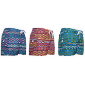 Girl's Board Shorts with Right Side Cargo Pocket - Aztec Prints - Size 4-6X