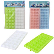 Plastic Ice Cube Tray 2-Pack - Assorted