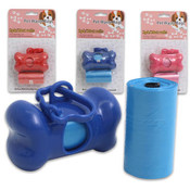 Pet Waste Bag Dispenser With Roll 2-pack - Assorted